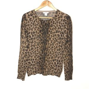 Pure Alfred Sung Leopard Cardigan Size S